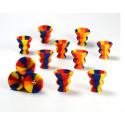 Top ceramique pour narguile en silicone assortis 12/240*