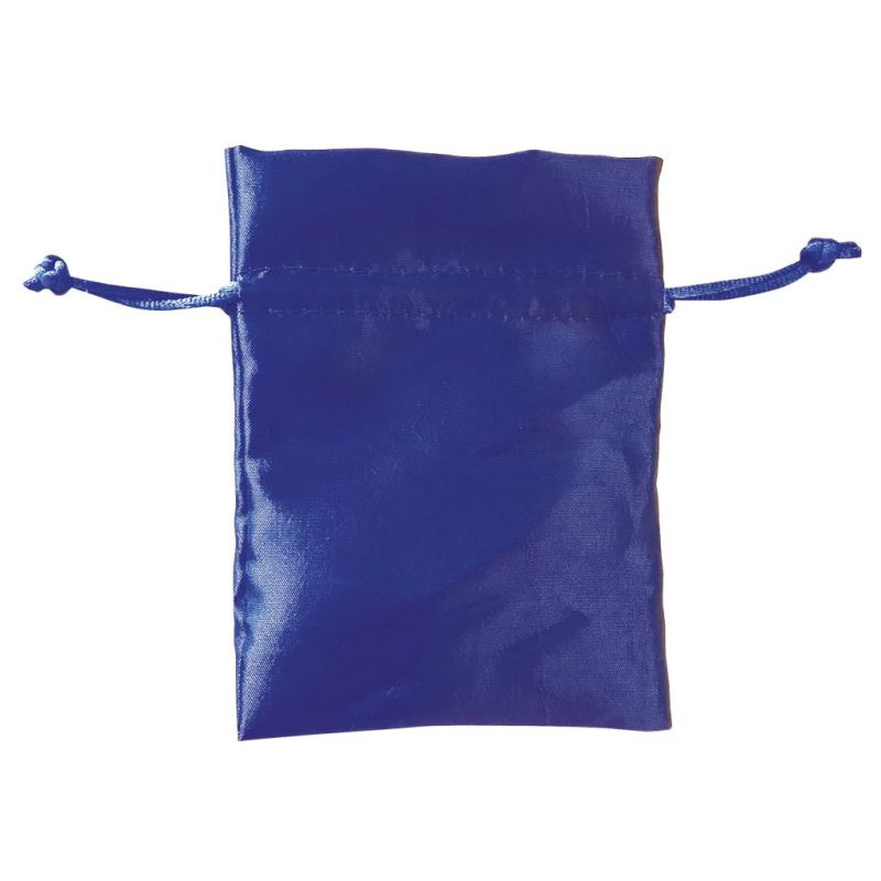 Pochette en satin bleue 90X120 mm