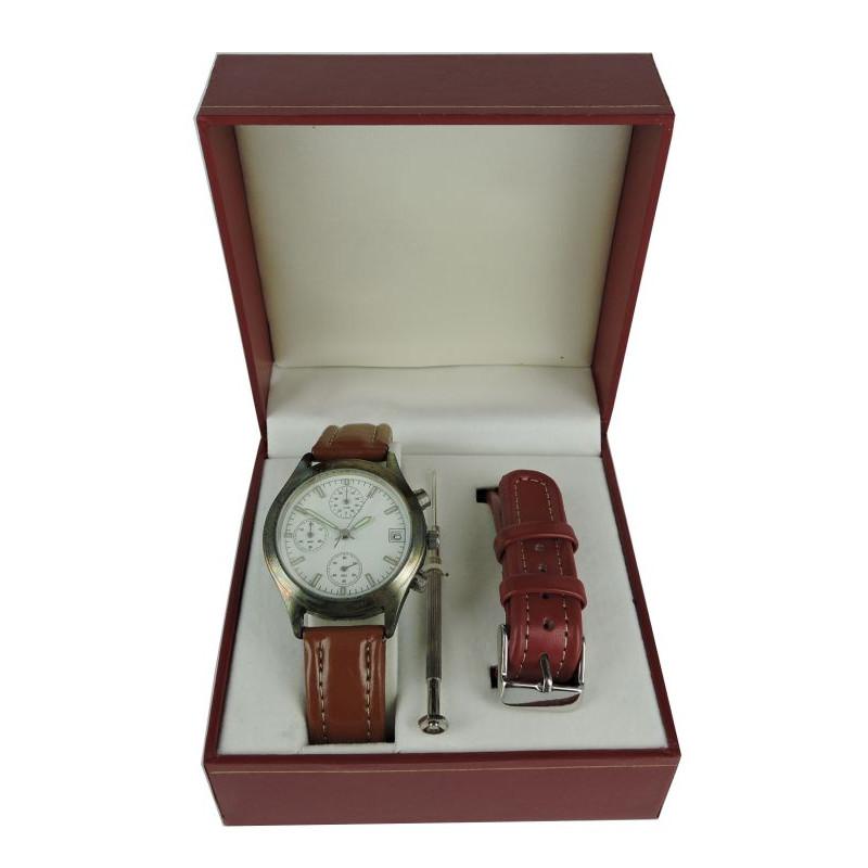 Coffret montre homme chrono+bracelet