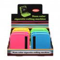 Boite à tabac rouleuse cigarette 70 mm plastique néons x4 8/160
