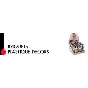 Grossiste importateur de Briquets plastique decor